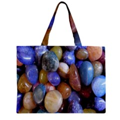 Rock Tumbler Used To Polish A Collection Of Small Colorful Pebbles Zipper Mini Tote Bag by Simbadda