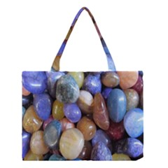 Rock Tumbler Used To Polish A Collection Of Small Colorful Pebbles Medium Tote Bag