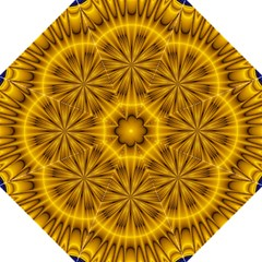 Fractal Yellow Kaleidoscope Lyapunov Golf Umbrellas by Simbadda