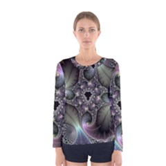 Precious Spiral Wallpaper Women s Long Sleeve Tee