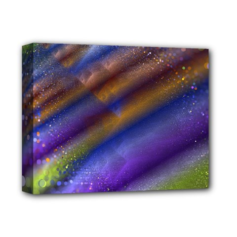 Fractal Color Stripes Deluxe Canvas 14  X 11  by Simbadda