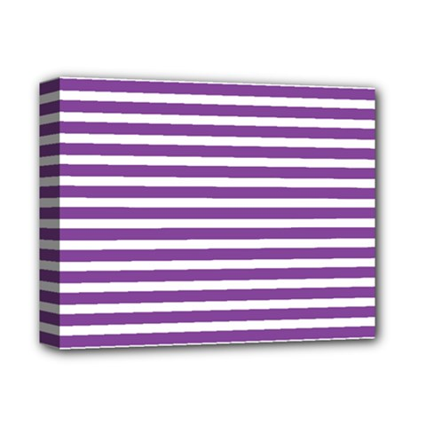 Horizontal Stripes Purple Deluxe Canvas 14  X 11  by Mariart