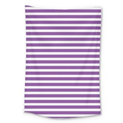 Horizontal Stripes Purple Large Tapestry