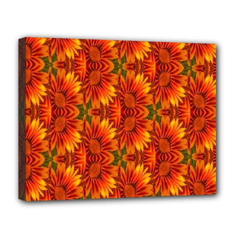 Background Flower Fractal Canvas 14  X 11  by Simbadda