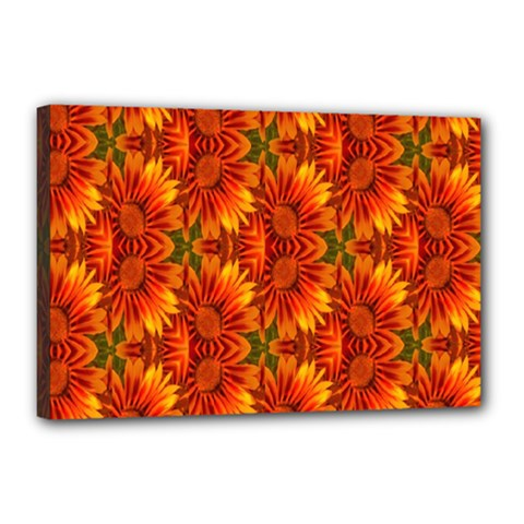 Background Flower Fractal Canvas 18  X 12  by Simbadda