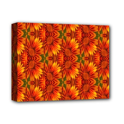 Background Flower Fractal Deluxe Canvas 14  X 11  by Simbadda
