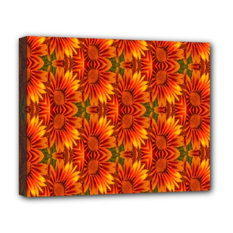 Background Flower Fractal Deluxe Canvas 20  X 16   by Simbadda