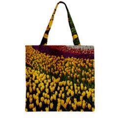 Colorful Tulips In Keukenhof Gardens Wallpaper Grocery Tote Bag by Simbadda