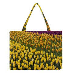 Colorful Tulips In Keukenhof Gardens Wallpaper Medium Tote Bag by Simbadda