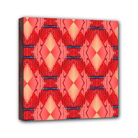 Orange Fractal Background Mini Canvas 6  X 6  by Simbadda
