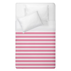 Horizontal Stripes Light Pink Duvet Cover (single Size) by Mariart