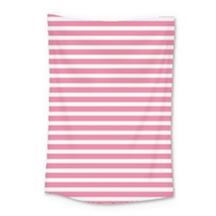 Horizontal Stripes Light Pink Small Tapestry by Mariart