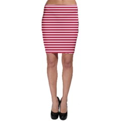 Horizontal Stripes Red Bodycon Skirt