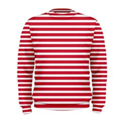 Horizontal Stripes Red Men s Sweatshirt