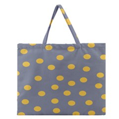 Limpet Polka Dot Yellow Grey Zipper Large Tote Bag by Mariart