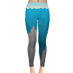 Mariana Trench Sea Beach Water Blue Leggings  by Mariart