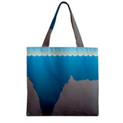 Mariana Trench Sea Beach Water Blue Zipper Grocery Tote Bag by Mariart