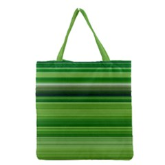 Horizontal Stripes Line Green Grocery Tote Bag by Mariart