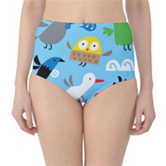 New Zealand Birds Close Fly Animals High Waist Bikini Bottoms by Mariart