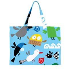 New Zealand Birds Close Fly Animals Zipper Large Tote Bag by Mariart