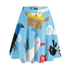 New Zealand Birds Close Fly Animals High Waist Skirt by Mariart