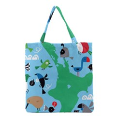 New Zealand Birds Detail Animals Fly Grocery Tote Bag by Mariart