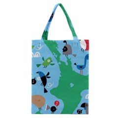 New Zealand Birds Detail Animals Fly Classic Tote Bag by Mariart