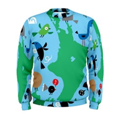 New Zealand Birds Detail Animals Fly Men s Sweatshirt by Mariart