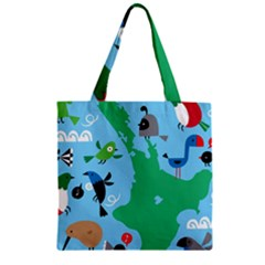 New Zealand Birds Detail Animals Fly Zipper Grocery Tote Bag by Mariart