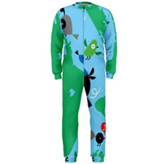 New Zealand Birds Detail Animals Fly Onepiece Jumpsuit (men)  by Mariart