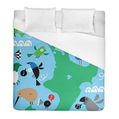 New Zealand Birds Detail Animals Fly Duvet Cover (full/ Double Size) by Mariart