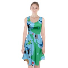 New Zealand Birds Detail Animals Fly Racerback Midi Dress by Mariart