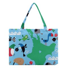 New Zealand Birds Detail Animals Fly Medium Tote Bag by Mariart