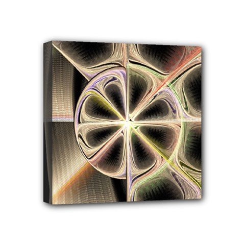 Background With Fractal Crazy Wheel Mini Canvas 4  x 4  by Simbadda