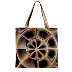 Background With Fractal Crazy Wheel Grocery Tote Bag by Simbadda