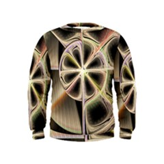 Background With Fractal Crazy Wheel Kids  Sweatshirt by Simbadda