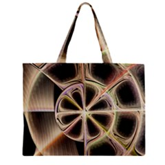 Background With Fractal Crazy Wheel Zipper Mini Tote Bag by Simbadda