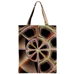 Background With Fractal Crazy Wheel Zipper Classic Tote Bag by Simbadda