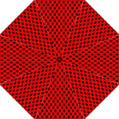 Polka Dot Black Red Hole Backgrounds Hook Handle Umbrellas (large) by Mariart