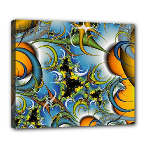 High Detailed Fractal Image Background With Abstract Streak Shape Deluxe Canvas 24  X 20   by Simbadda