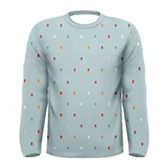 Polka Dot Flooring Blue Orange Blur Spot Men s Long Sleeve Tee by Mariart