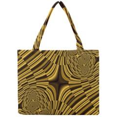 Fractal Golden River Mini Tote Bag by Simbadda