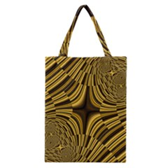 Fractal Golden River Classic Tote Bag by Simbadda