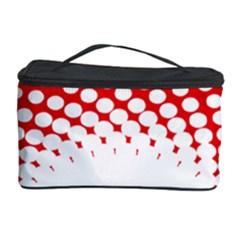 Polka Dot Circle Hole Red White Cosmetic Storage Case by Mariart