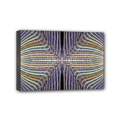 Color Fractal Symmetric Wave Lines Mini Canvas 6  X 4  by Simbadda