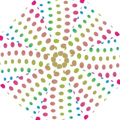 Polka Dot Pink Green Blue Hook Handle Umbrellas (large) by Mariart