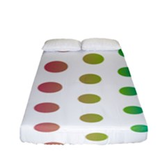 Polka Dot Pink Green Blue Fitted Sheet (full/ Double Size) by Mariart