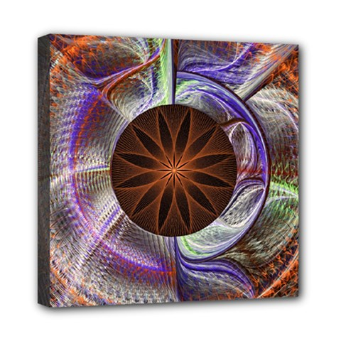 Background Image With Hidden Fractal Flower Mini Canvas 8  X 8  by Simbadda