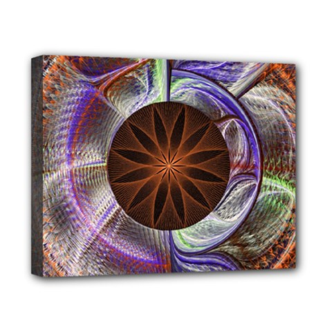 Background Image With Hidden Fractal Flower Canvas 10  X 8  by Simbadda