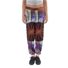 Background Image With Hidden Fractal Flower Women s Jogger Sweatpants by Simbadda